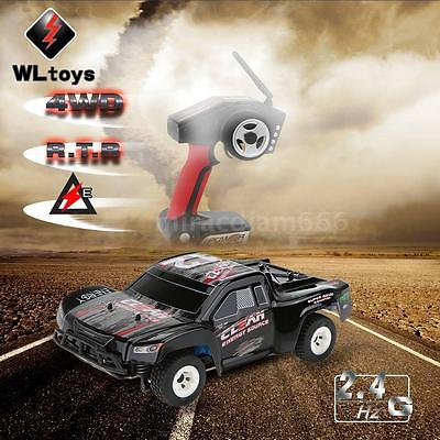 Original WLtoys A232 1/24 2.4G Electric Brushed 4WD RTR RC Car Short Truck R7BJ