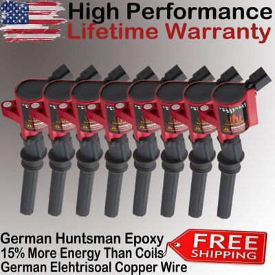 DG508 Red Ignition Coil 8 Pack For Ford F150 F250 Lincoln Mercury 4.6L 5.4L V8