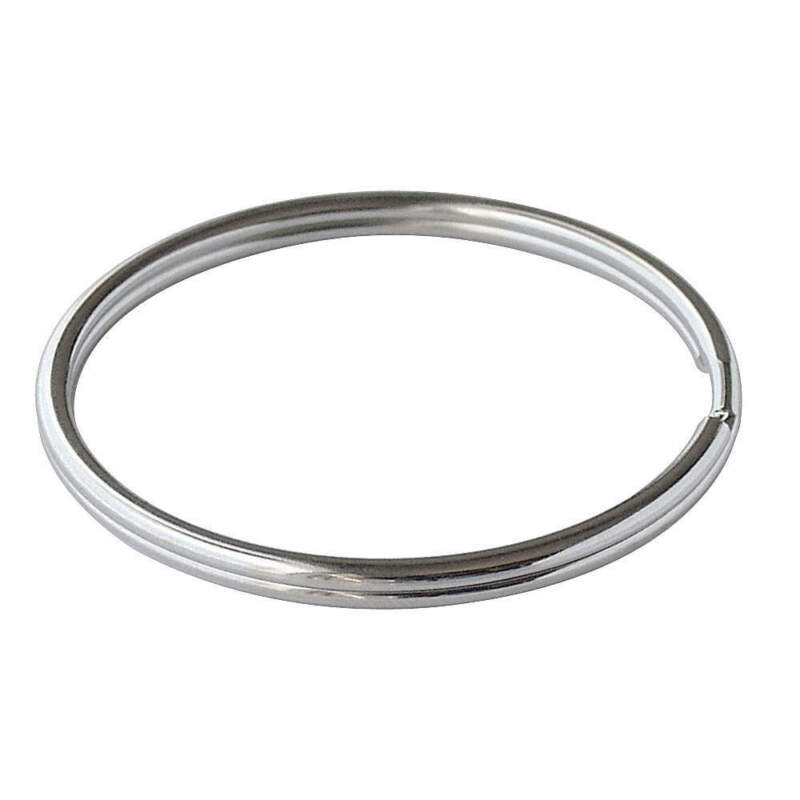 LUCKY LINE PRODUCTS 7910010 3in Split Ring,Nickel-Plated Steel,PK10