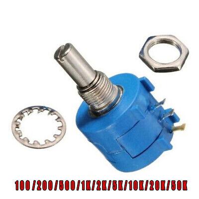 1 Pcs 10 Turn Potentiometer 3590s Wirewound Variable Multi-turn Pot Kits