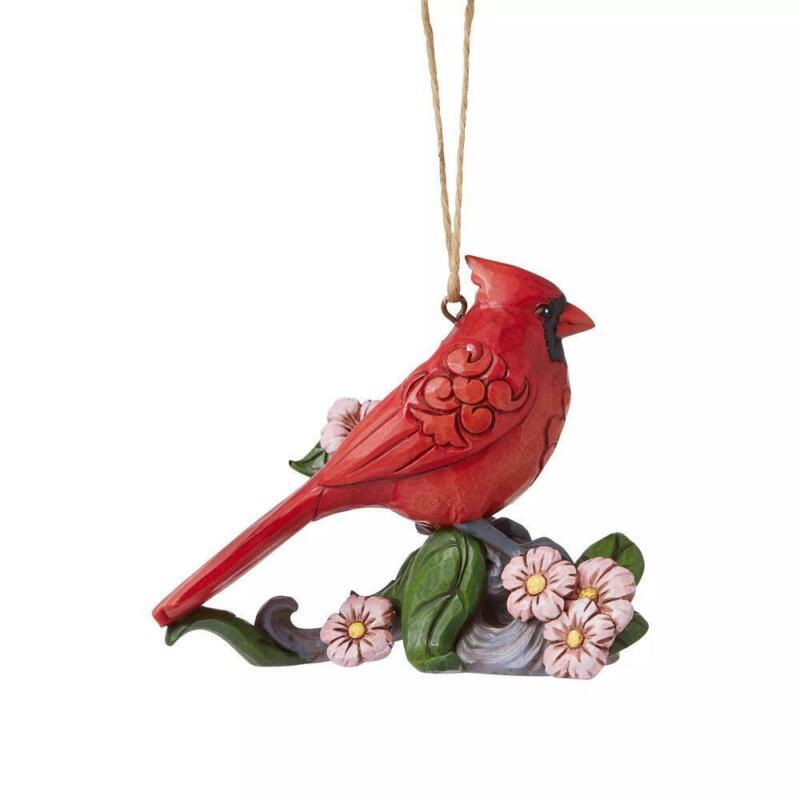 Jim Shore Heartwood Creek Caring Cardinal on Branch Christmas Ornament 6008123
