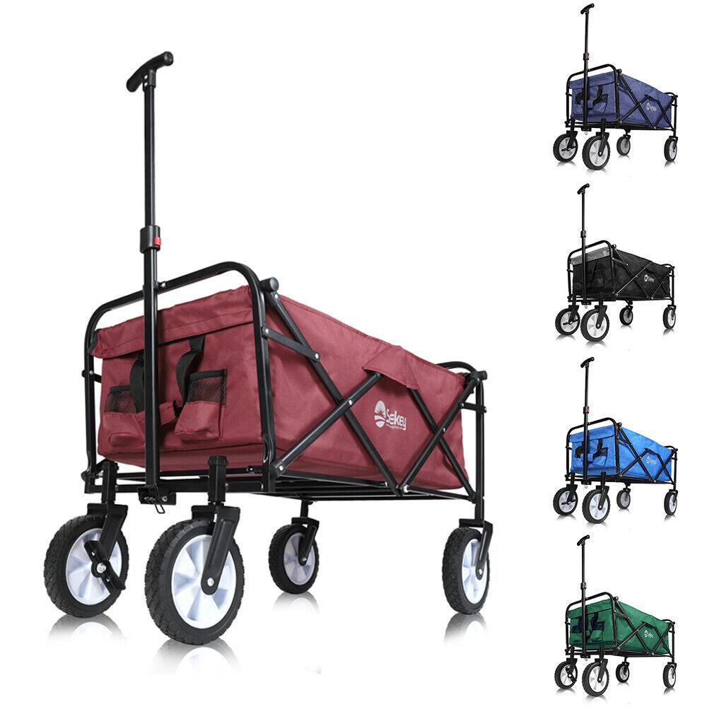 Faltwagen Garten Handwagen Bollerwagen Faltbar klappbar Strandwagen bis 80kg