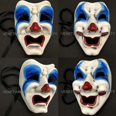 Comedy Tragedy Masquerade Clown Mask Halloween Parade Cosplay Costume Party (Comedy Tragedy Halloween Masks)