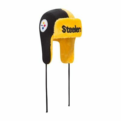 Pittsburgh Steelers Helmet Head New Era Knit Trapper Trooper Hat FREE SHIPPING](Steelers New Helmet)