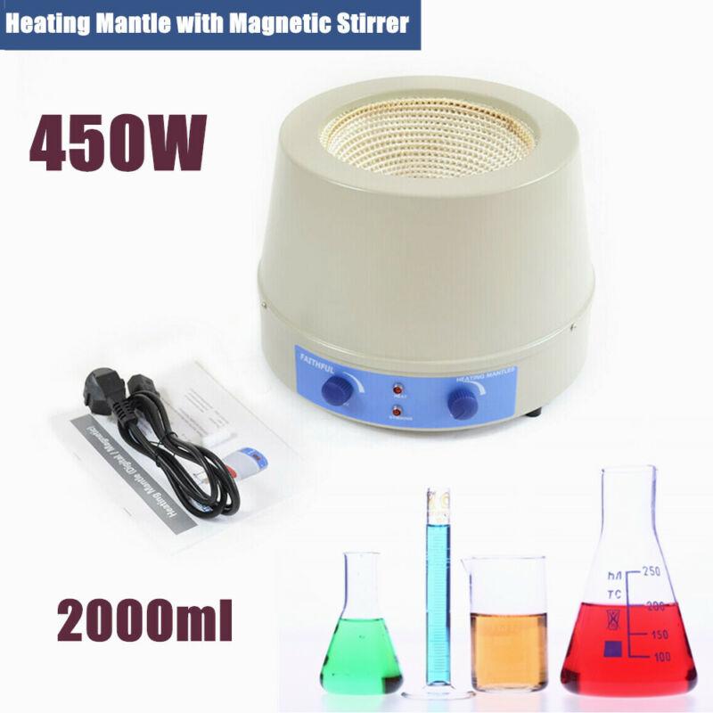Magnetic Stirrer 2000ml Stirring Heating Mantle 450W Magnetic Stirrer 110V NEW