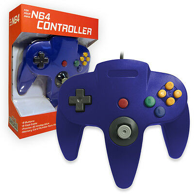 Nintendo 64 CONTROLLER BLUE N64 *OLD SKOOL* New In Box!!