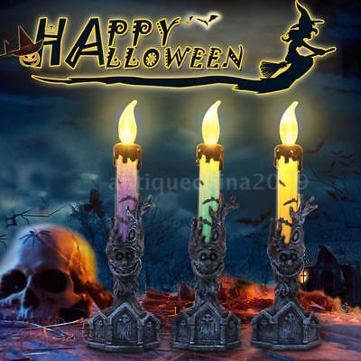 LED Electronic Candle Light Battery Operated Halloween Xmas for Party Decor A8D3](D3 Halloween Party)