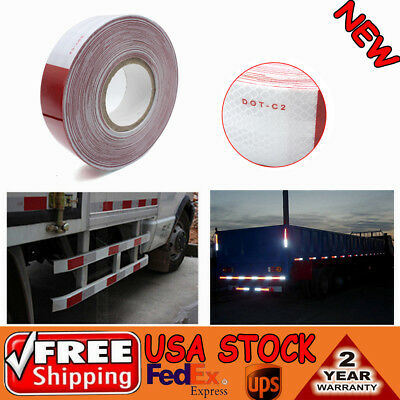 2x150 Redwhite Dot-c2 Reflective Conspicuity Warn Safety Tape Trailer Truck