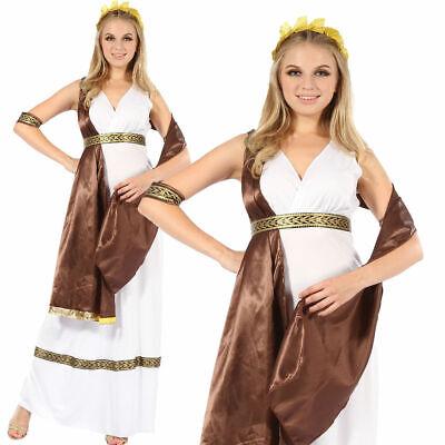 Erwachsene Griechische Römische Göttin Toga Kostüm Outfit Damen