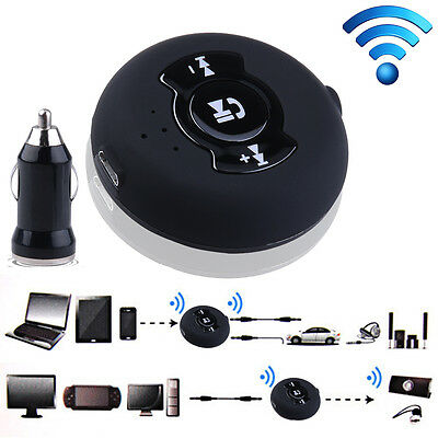 Audio Bluetooth Music Receiver Adapter Hands free Car kit 3.5 mm AUX Speaker