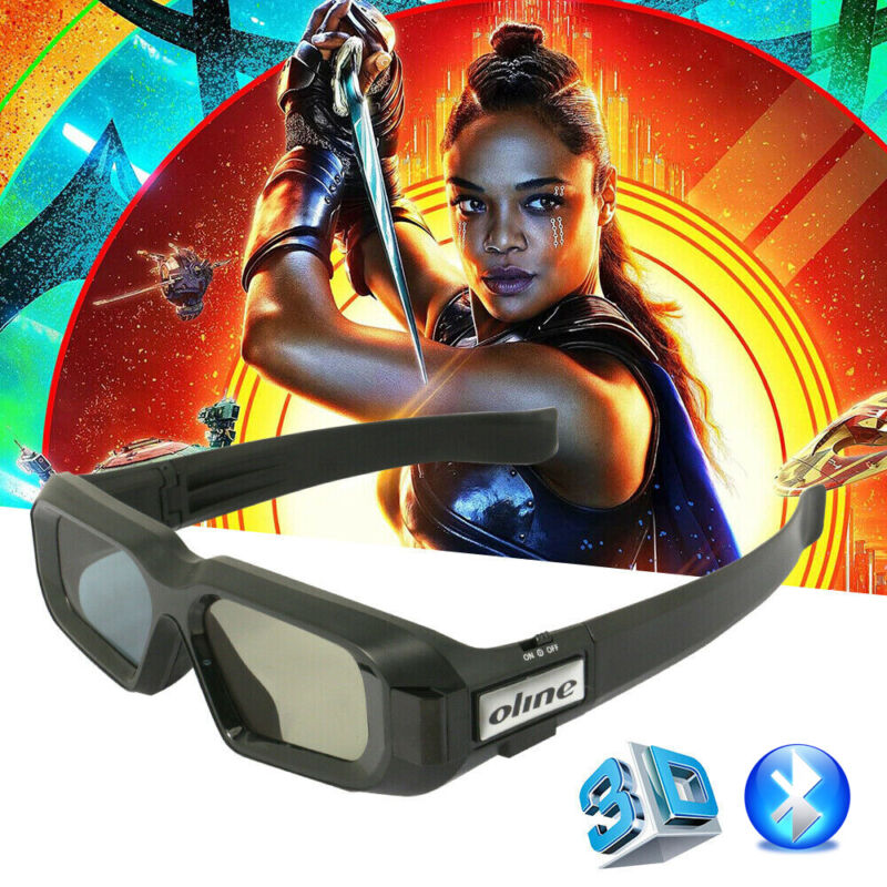 Blue-tooth Active Shutter 3D Glasses for Sony/Sharp/Panasonic 3DTvs USB Charging