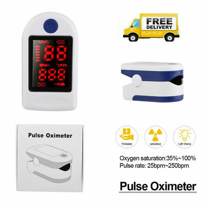 Finger Tip Pulse Oximeter Blood Oxygen Saturation Tester Monitor Meter Spo2 Usa