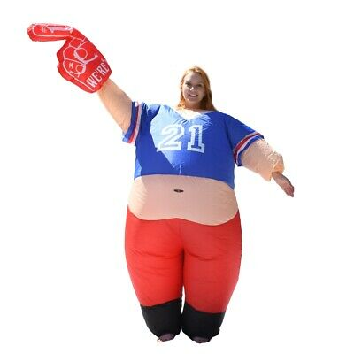ALEKO Halloween Inflatable Party Costume - Pot Belly #1 Sports Fan - Adult Sized