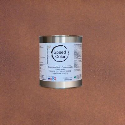 Fast Drying Concrete Paint 24oz Concentrate Yields 1 Gallon Chocolate Color