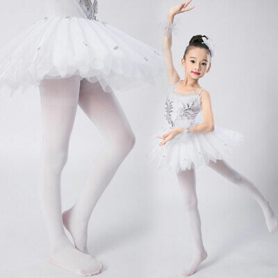 Hot Girl Tights (US Children Girl Sunsuit Ballet Dance Tights Footed Seamless Solid Stockings)
