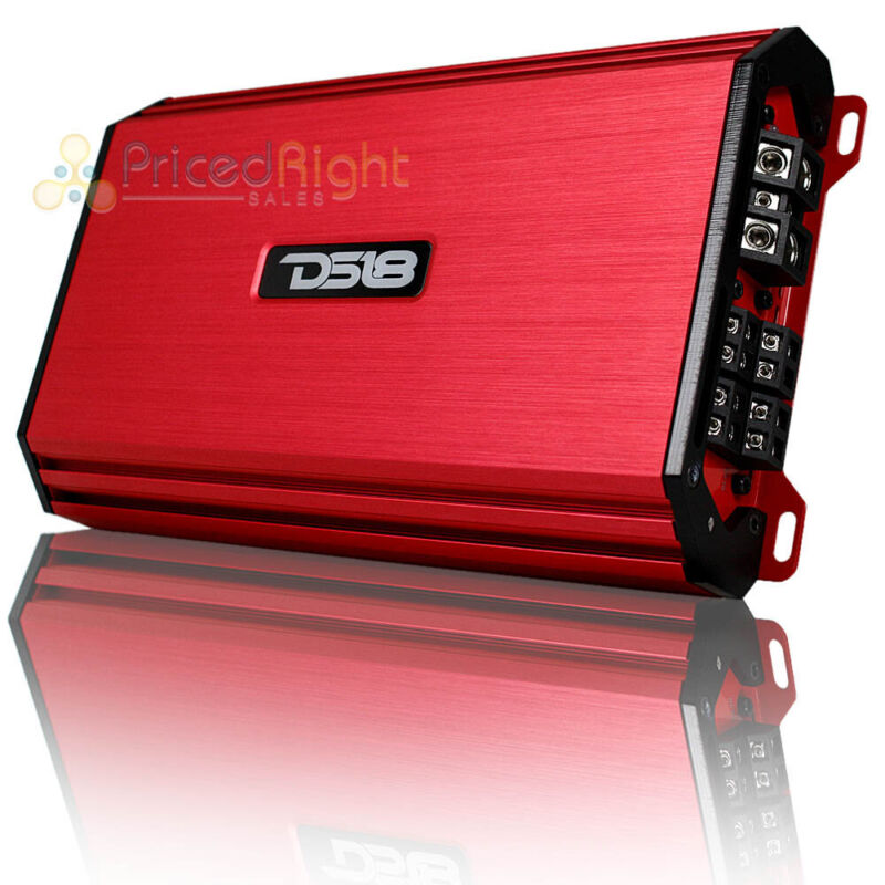 DS18 4 Channel Amplifier 1200W Full Range Class A/B Select Red S-1200.4/RD