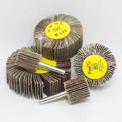 2080mm Sanding Flap Grind Wheel Disc Abrasive Rotary Drill 6mm Shank 60320grit