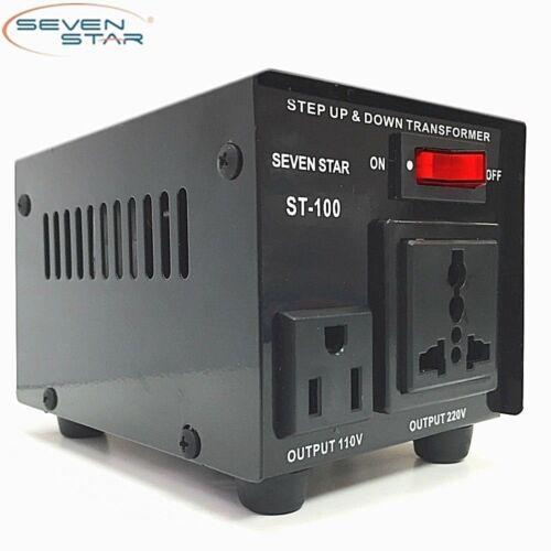 SevenStar ST-100W Watt 110V to 220V Step Up/Down Transformer Voltage Converter