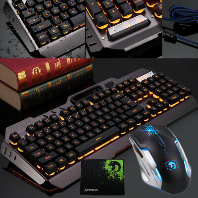 BEST Mechanical Led Light Backlit Computer Gaming Keyboard and Mouse US (Best Wired Keyboard And Mouse)