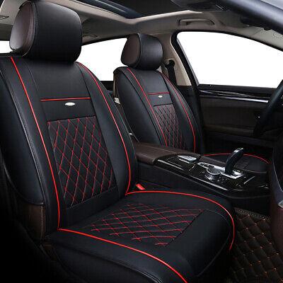 Car Seat Covers Protector 5-Seats Cushion Black Luxury PU Leather Universal SUV