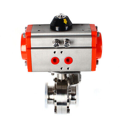 1.5 Pneumatic Actuator Sanitary Butterfly Valve Sus 304 Tri-clamp Single Acting