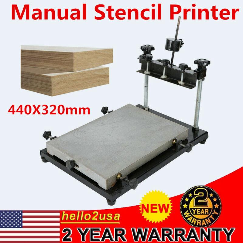 US High Precision Manual Solder Paste Printer Stencil Printing Machine 440X320mm