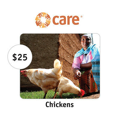 CARE $25 Two Chickens Symbolic Charitable Donation