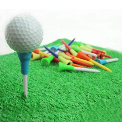 Rubber Cushion Plastic Golf Tees 3 1/4 Durable Random Color 83mm 50Pcs US Stock