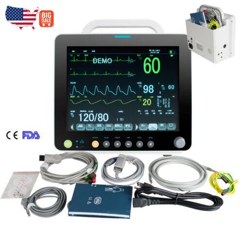TFT Portable 6-Parameters Patient Monitor Vital Signs SpO2/PR/NIBP/ECG/RESP/TEMP