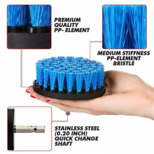 1pcs 2 Inch Electric Drill Brush Plastic Round Cleaning Brush For Carpet Glass Car Tires Nylon Brushes Power Scrubber Drill To Have A Long Historical Standing Brush