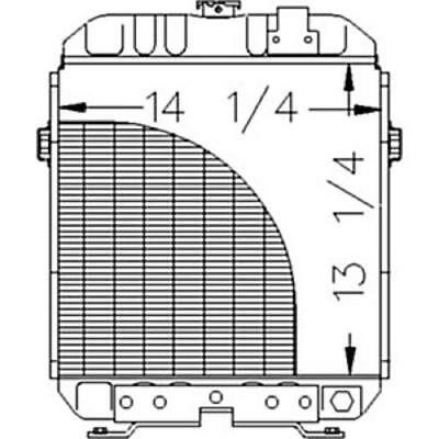 A-sba310100431 Ford Tractor Radiator 1110 1210 1310