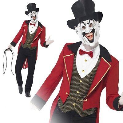 Erwachsene Sinister Zombie Zirkusdirektor Kostüm Herren Zirkus Halloween