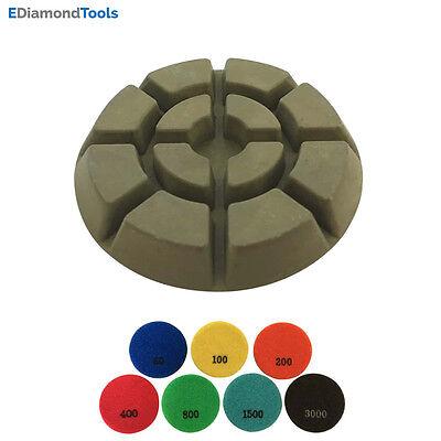 3 Dry Diamond Resin Bond Polishing Pads For Concrete Floor 15003pcs