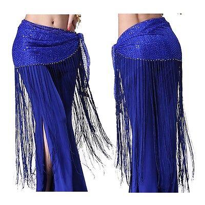 Belly Dance Costume Tribal Tassel hip scarf wrap belt Skirt Fringes Waist skirt (Tribal Costumes)