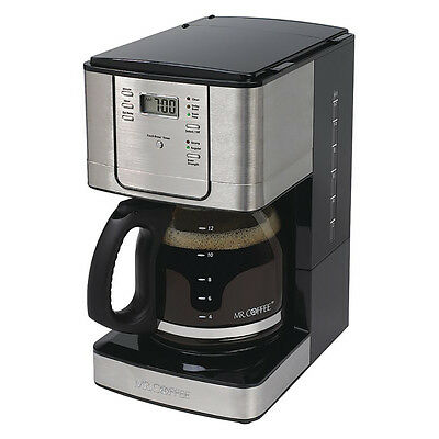 Mr. Coffee 12 Cup Programmable Coffee Maker with Auto Let-up, Stainless Steel