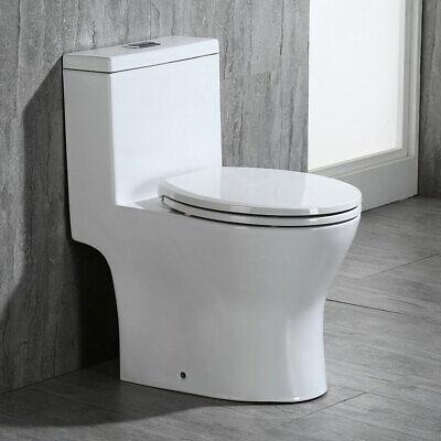 WOODBRIDGE T-0032,Elongated One Piece Toilet Dual Flush 1.0/1.28 Gpf