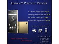 Sony Xperia Z5/Compact/Z4/Z3/Compact/Z2/Z1/Z LCD Screen Digitiser Repair Service Welwyn Hatfield