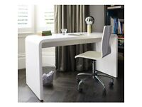 Large Dwell White gloss lacquer / Nail Station / Computer Desk