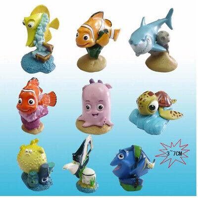 Finding Nemo Marlin Dory Nemo Bruce Crush 9 PCS Action Figure Cake Topper Toy US - Finding Nemo Cake Topper