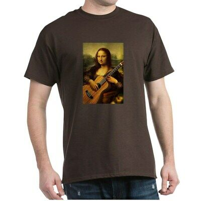 CafePress Mona Guitar Dark T Shirt 100% Cotton T-Shirt