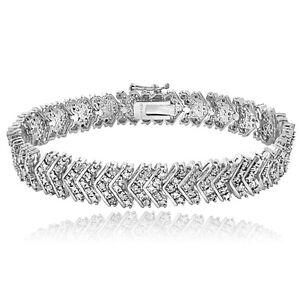 1.00ct TDW Diamond Chevron Bracelet