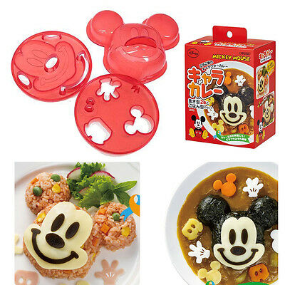 Mickey Mouse Shape Rice Mold Ball Maker Cheese Curry Fried Rice Bento Lunch Kid