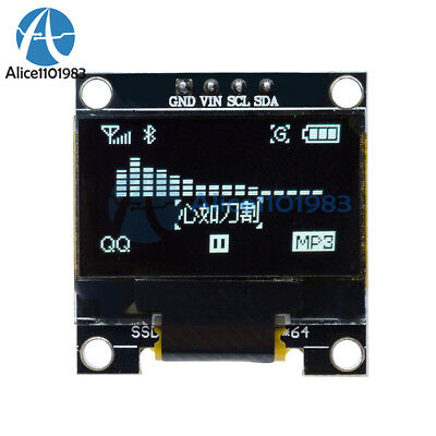 0.96 I2c Iic Serial 128x64 White Oled Lcd Led Display Module For Arduino