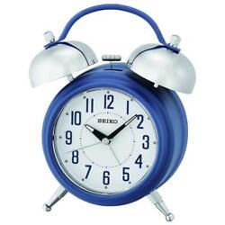 Seiko QHK051L Dial Illumination Lumibrite Hands Bell Alarm Clock with Snooze