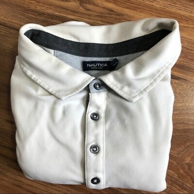 Nautica Cream w/gray trim Long sleeve size 4XLT