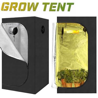 Indoor Portable Grow Tent Box 600d Oxford Hydroponics Bud Green Room 60X60X140CM