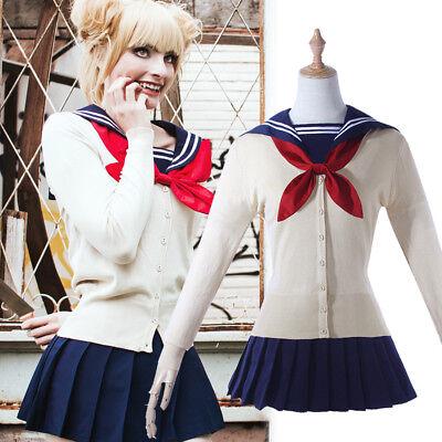 My Hero Academia Himiko Toga Shool Sweaters Cardigan Uniform JK Cosplay Costumes](Toga Womens Costume)