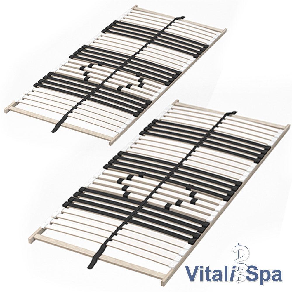 2er Set VitaliSpa 7-Zonen-Lattenrost 90x200cm Premium Härtegradverstellung
