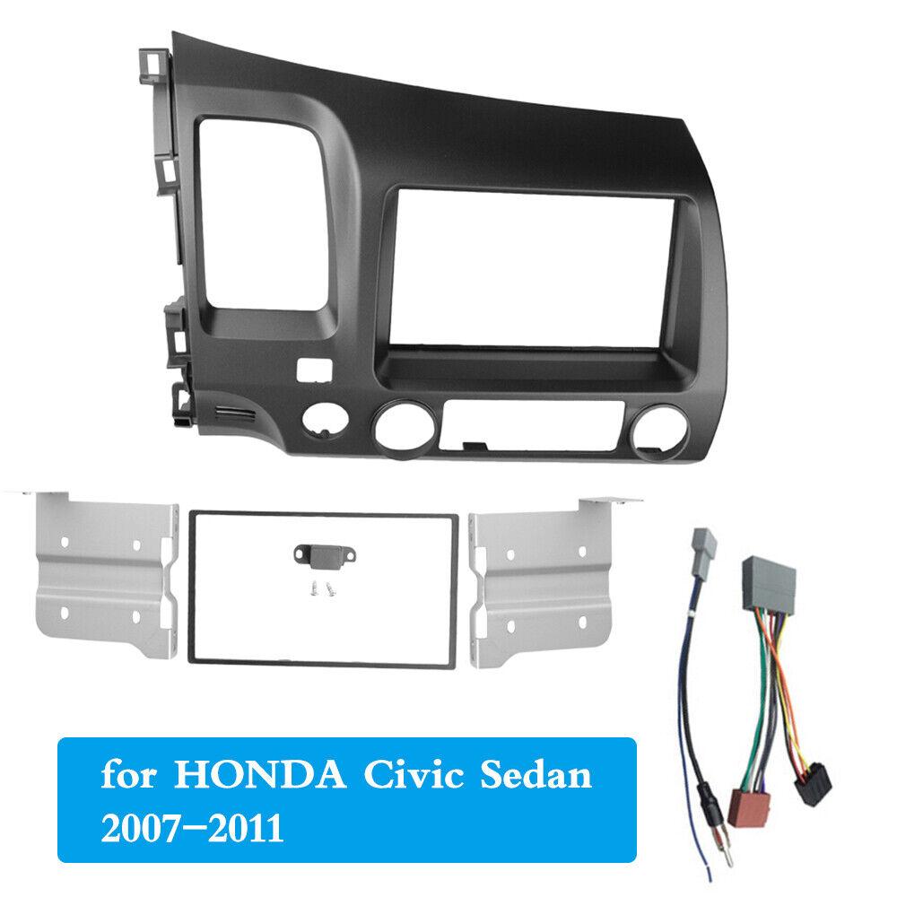 Double Din Radio Fascia for Honda Civic Sedan RHD Stereo Panel Dash Frame Bezel