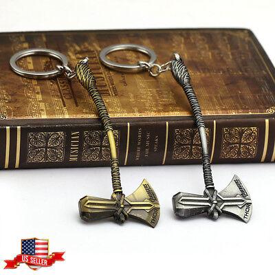 US! Avengers 3 Infinity War Thor Stormbreaker Axe Hammer Weapon Keychain Gifts (Avengers Hammer)